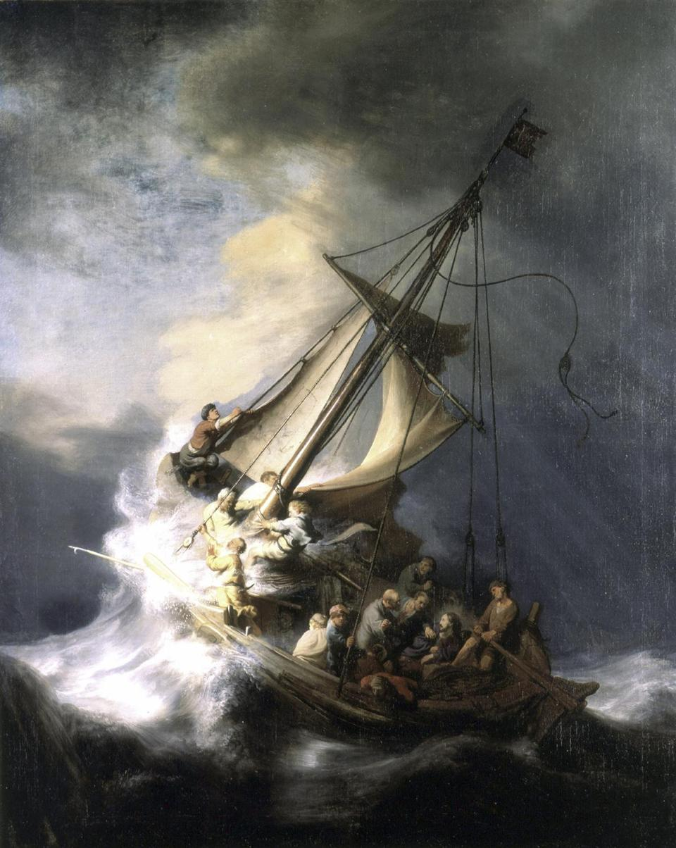 "Rembrandt, ""The storm on the Sea of Galilee"""